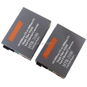 Image 1 - Htb 3100ab Optical Fiber Media Converter Fiber Transceiver Single Fiber Converter 25km SC 10/100M Singlemode Single Fiber
