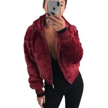 Sweatshirt Women Winter Hooded Faux Fur Plush Coat Female Long Sleeve Women Clothes Hoodies Women Sweat Femme Plus Size Faux Fur