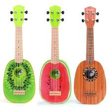 4 Styles Fruit Style Ukulele Guitar Early Learning Toy Musical Instrument Stringed Instrument For Children Beginner Basic Player