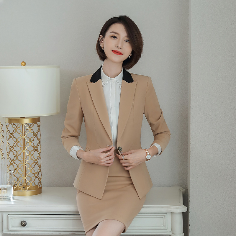 Autumn And Winter High Quality Women's Suits Large Size S-4XL Casual Slim Long Sleeve Suit Set Women Office Pants Set Two-piece