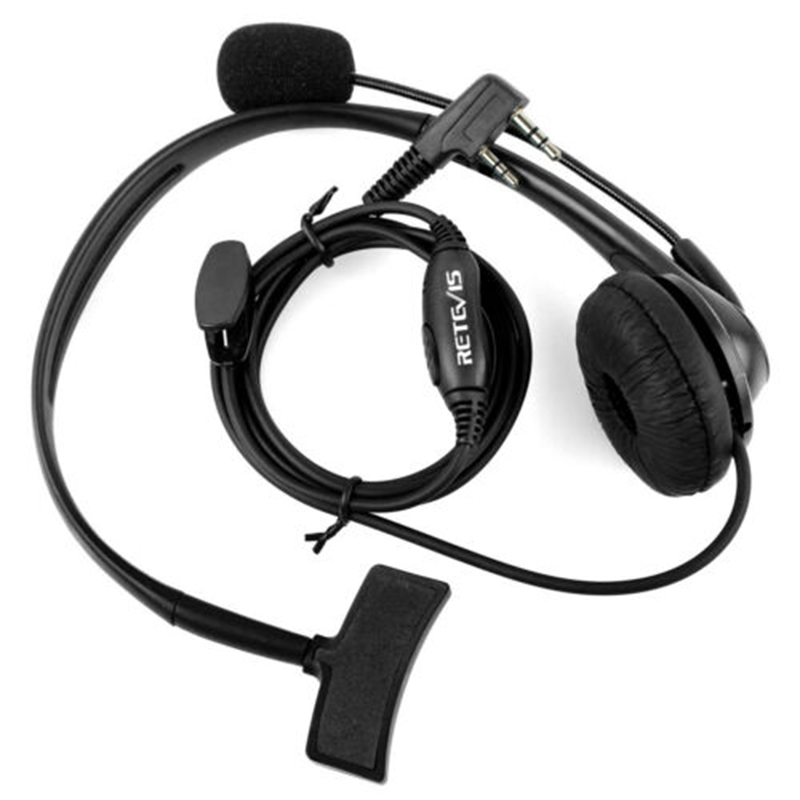 TK 2-Pin Mic Headset Bouncer Headphone For BAOFENG UV-5R 5RA/B/C/D/E UV-3R Radios Plug