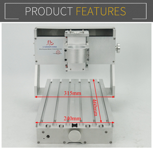 Image 3 - מיני DIY CNC מכונת CNC 3020 מסגרת קידוח מכונת הטחינה עבור תחביב תכליתי 65mm ציר ללא מנוע