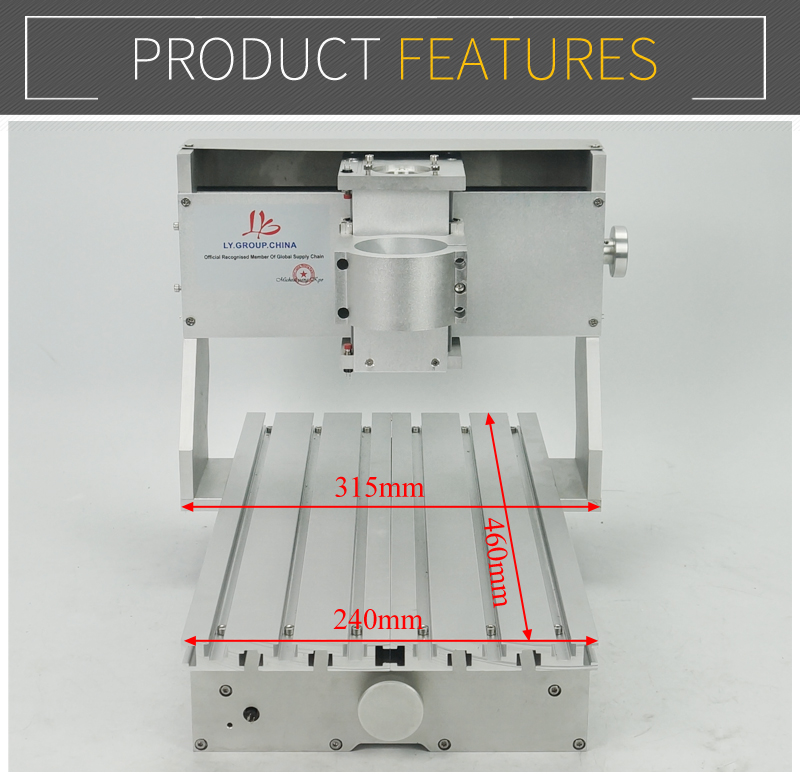Image 3 - Mini DIY CNC machine CNC 3020 Frame Drilling And Milling Machine For Hobby Purpose 65mm spindle Without Motorwood lathediy cncrouter engraver -