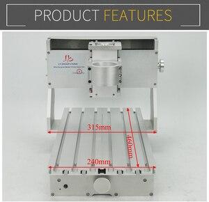 Image 3 - 미니 diy cnc 기계 cnc 3020 프레임 드릴링 및 밀링 머신 취미 목적 65mm 스핀들 모터없이