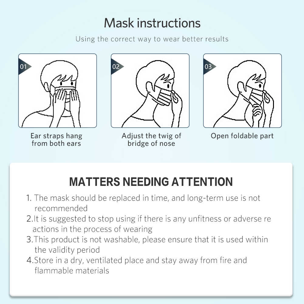 50pcs Masks Disposable Anti Dust/Mouth Face Mask 3 Layers Bacterial Mouth Earloop Anti Virus Epidemic Cover Face/Dust Masks