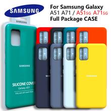 Samsung A51 5G Original Back Case Liquid Silicone Case Silky For Samsung Galaxy A71 5G Protective Case For Galaxy A51 A71 case tanie tanio CN(Origin) Half-wrapped Case Plain