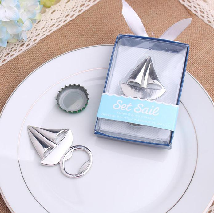Free Shipping Wholesale Sailboat Bottle Opener Wedding Bridal Shower Favor Party Gifts 300PCS/LOT SN2928