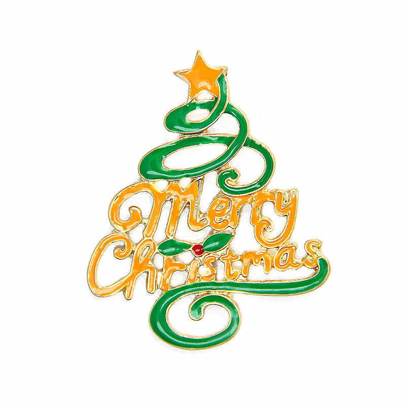 2019 Baru Kedatangan Waktu Terbatas Paduan Timah Wanita Brocade Pin Natal Theme Merry Pohon Bros Hadiah Aksesoris Kerah Jarum