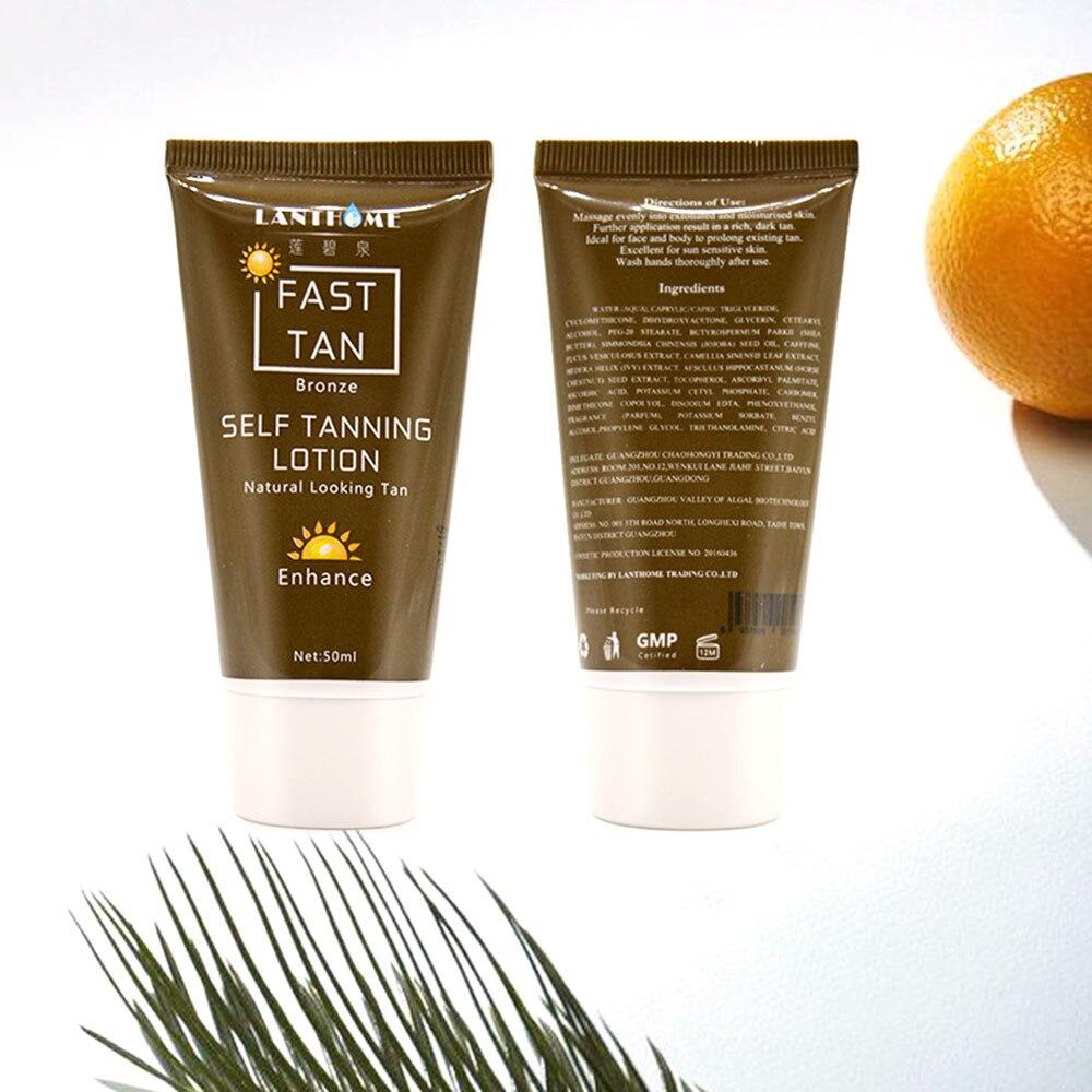 1 Pcs Tanning Cream Self-tanning Sunscreen Cream Tanning Salon Bronze Body Sunscreen Makeup Foundation Fast Spray Lotion 1