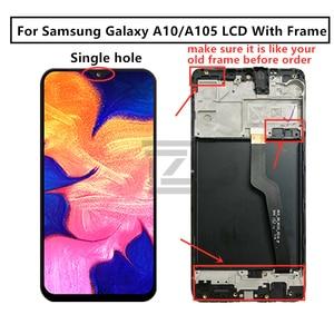 Image 3 - 삼성 갤럭시 A10 Lcd 2019 A105 A105F SM A105F 디스플레이 터치 스크린 디지타이저 삼성 a10 화면 수리 부품에 대 한 프레임