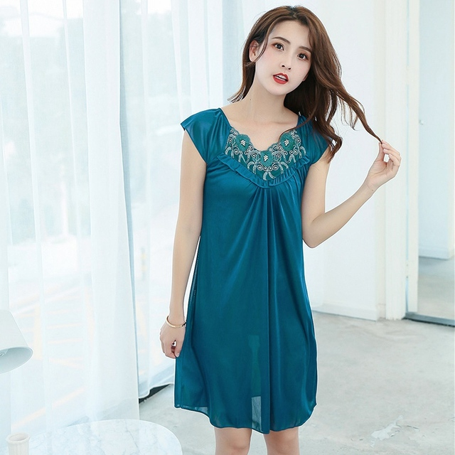 Lingerie Sleepdress Nightdress Women Lace Sleepwear Ladies Nightgown Homewear