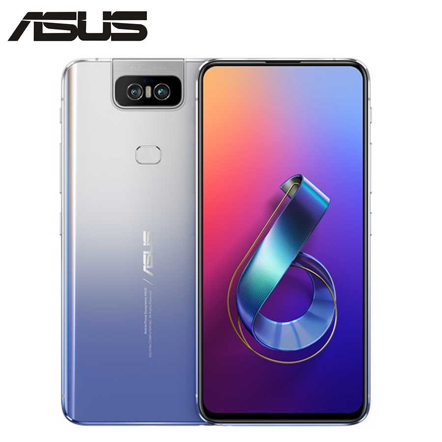 "2019New Asus Zenfone 6 ZS630KL 4G LTE téléphone portable 6GB RAM 128GB ROM Snapdragon855 6.4 ""1080x2340 5000mAh NFC double SIM Android9.0"