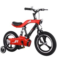 12 14 16 Aluminum Alloy Children's Bicycle with LED Night Light Thicken Tire Spring Fork Comfortable Kids Bike Riding Toys