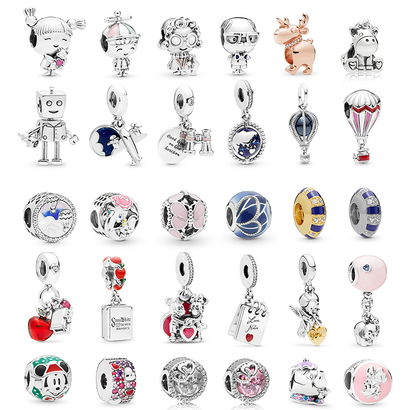 45 Styles Lovely Boy & Girl Beads fit Pandora Charms Bracelets Necklaces for Women Jewelry Making Ladies Jewelry Accessories