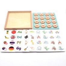 Конфеты Деревянные 3D головоломки матч памяти шахматы игра для детей раннего образования семьи вечерние повседневные игры Пазлы для малышей