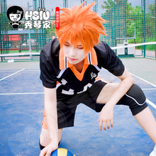 HSIU Anime Haikyuu!! Shoyo Hinata Cosplay Wig short orange Costume Play Wigs Halloween Costumes Hair