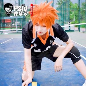 Image 1 - HSIU Аниме Haikyuu! Shoyo Хината косплей парик короткий костюм апельсина играть парики Хэллоуин костюмы волос