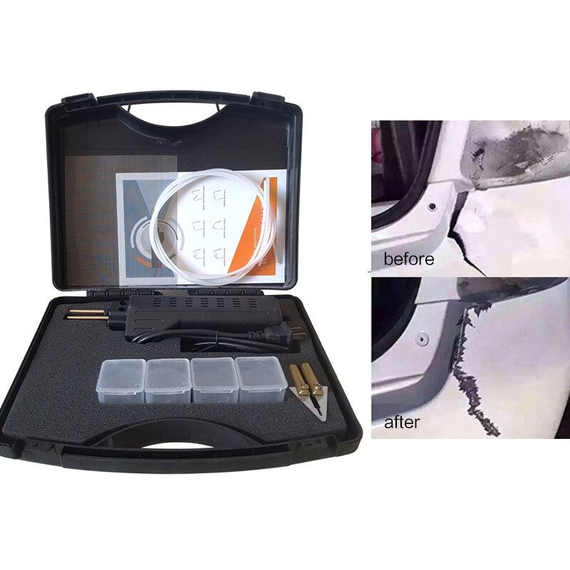 220V Hot agrafeuse pare-chocs carénage soudure pistolet en plastique Kit de réparation agrafes pour voiture Auto main outil pièces