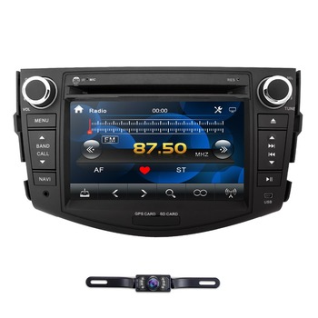 2Din Car DVD Player Radio for Toyota RAV4 Rav 4 2006 2007 2008 2009 2010 2011 2012 800*480 GPS Navigation SWC Bluetooth DAB CAM image