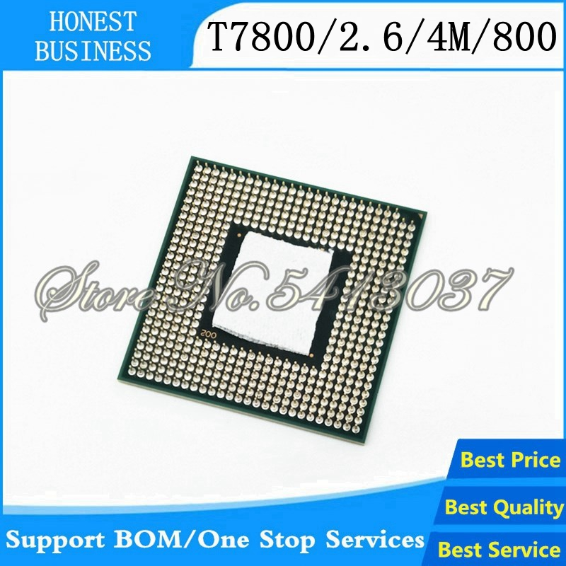 1PCS CPU laptop Core 2 Duo <font><b>T7800</b></font> CPU 4M Socket 479 Cache/2.6GHz/800/Dual-Core Laptop processor 100% working properly image