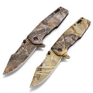 Free Shipping Buck X69 Realtree AP Camouflage Folding knife Tactical Fishing hunting knives camping survival Pocket Knife tool(China)