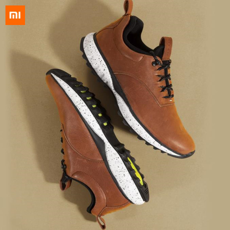 Xiaomi Mijia Qimian Casual Leather Men's Shoes Cushioning Outdoor Cowhide Shoe Antibacterial Insole Shock Absorbtion Male Runnin