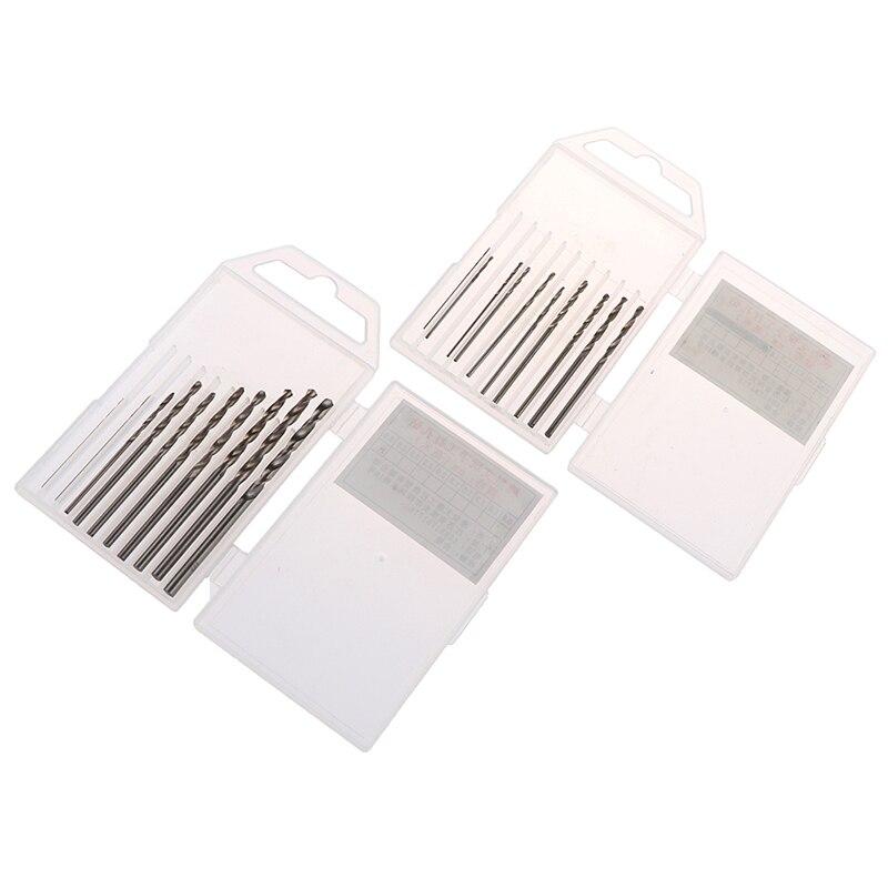 10Pcs/Box High Quality Mini Drill HSS Bit 0.8mm-3.0mm Straight Shank PCB Twist Drill Bits Set