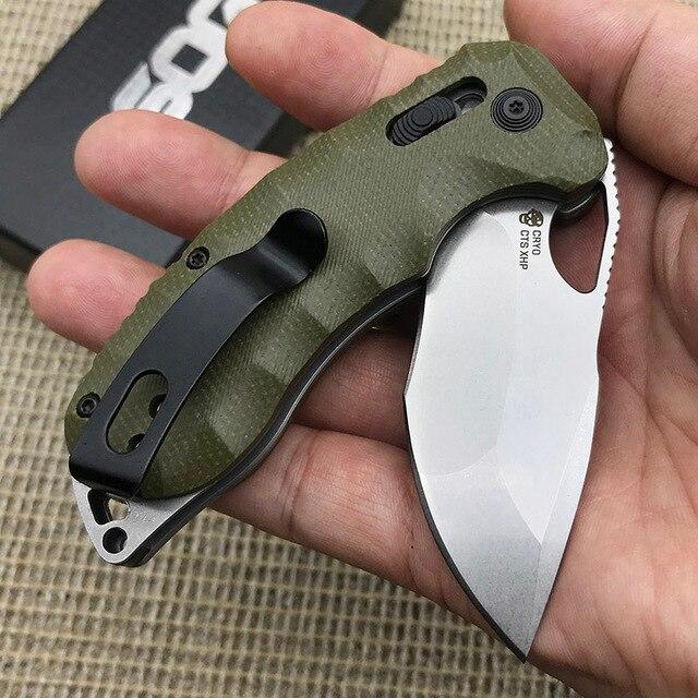 OEM SOG Tactical Folding Knife D2 Blade Micarta Handle Outdoor Survive Hunting Bearing Pocket Knives EDC Self Defense Hand Tools 4
