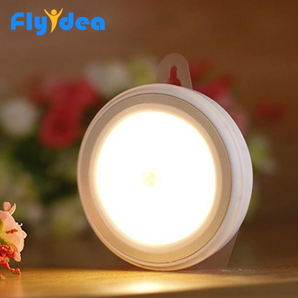 Round Touch Switch LED Night Light Home Lighting Lamp For Simple Lighting 4.5V Novel LED Night Light Kids Night Lighting Tools