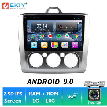 EKIY 9'' Android 9.0 Car GPS Navigation Video Player HU For Ford Focus 2004 2005 2006 2007 2008-2011 Multimedia Stereo Autoradio image