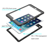 protective tpu For iPad 10.2 inch 2019 Waterproof Case Dual Layer PC + TPU Cover IP69 Waterproof Dustproof Anti-fall Tablet Protective Shell (4)