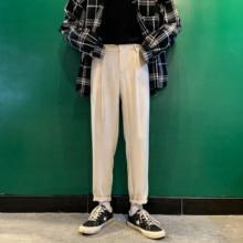 2020 Mens Fashion Trend Cotton Casual Harem Pants Black/white Color Brand Slim Fit High quality Trousers Big Size S 3XL