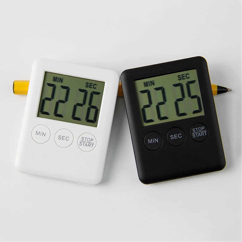 2019 Новый 1 шт 6 цветов супер тонкий цифровой экран lcd кухонный таймер квадратный поварской подсчет Будильник с таймером магнитные часы