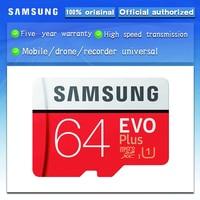 100% Original SAMSUNG Micro sd-karte 64 GB u1 Speicher Karte EVO Plus 64 GB Class10 TF Karte C10 80 MB/S MICROSDXC UHS-1 Freies Verschiffen