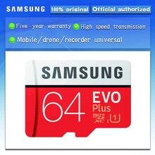 100% d'origine SAMSUNG carte Micro SD 64 GO u1 Carte Mémoire EVO Plus 64 GO Class10 TF Carte C10 80 MB/S MICROSDXC UHS-1 Livraison Gratuite