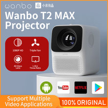 Global Version Wanbo T2 MAX Projector 1080P Mini LED Portable Projector 1920*1080P Vertical Keystone Correction For Home Office