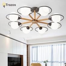 TRAZOS Modern LED Ceiling Lights For Living Room Lamp Designer Wood  Metal Surface Mounted Bedroom Lighting Fixtures