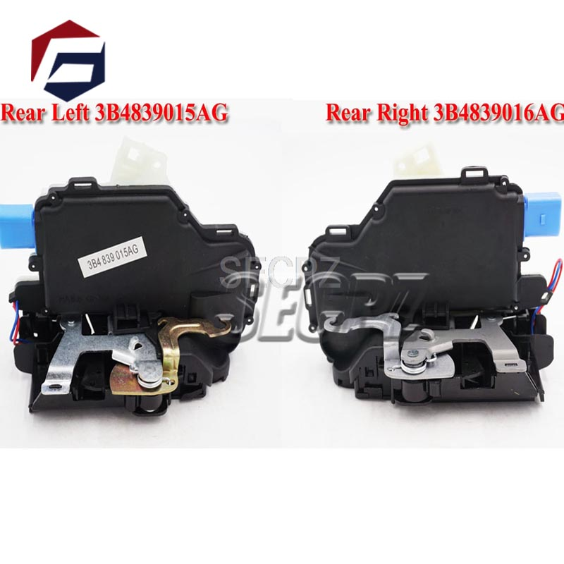 pair 2pc 3B4839016AG 3B4839015AG REAR SIDE DOOR LOCK ACTUATOR FOR <font><b>VW</b></font> POLO 9N <font><b>VW</b></font> <font><b>T5</b></font> TRANSPORTER CARAVELLE <font><b>MULTIVAN</b></font> image