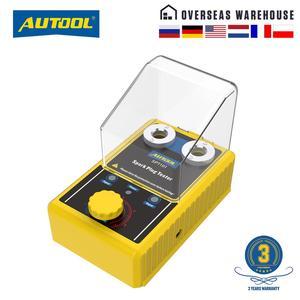 Image 1 - AUTOOL جهاز اختبار شمعة الإشعال ، 110 فولت ، 220 فولت ، فولت ، مع وظيفة الفتحة المزدوجة ، ومحلل قابس الإشعال ، للمركبات 12 فولت ، SPT101