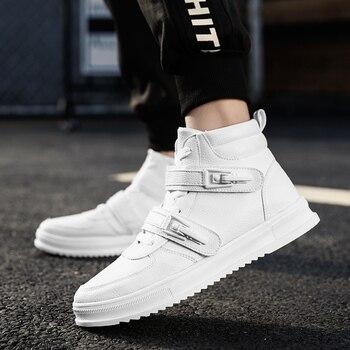 Winter men shoes high-top Walking Shoes black shoes for men Keep warm Canvas shoes men fashion Leather Casual Shoes 8