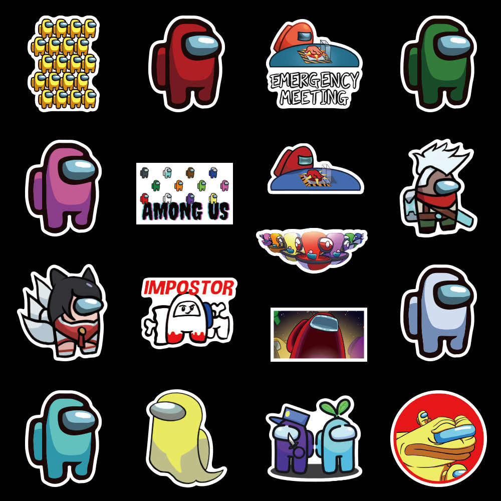 10 50pcs Classic Game Among Us Stickers Funny Anime Harry For Phone Laptop Scrapbook Scooter Toys For Children Stickers Stickers Aliexpress