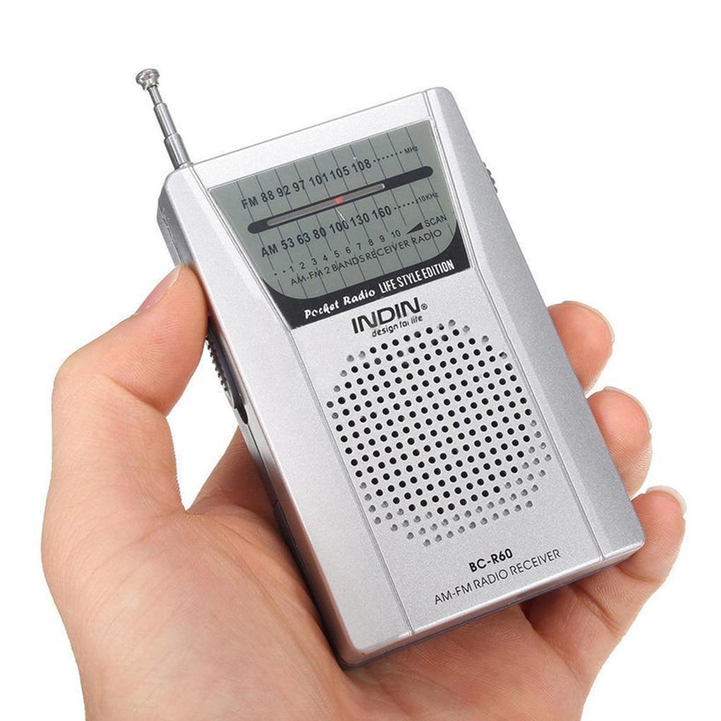 Портативный BC-R60 карманный радиоприемник телескопическая антенна мини AM/FM 2-х полосный радио Всемирный приемник с Динамик 3,5 мм разъем для на...