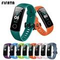Силиконовый ремешок FIFATA для часов Honor Band 4 5, аксессуары для браслетов, сменный спортивный ремешок для Huawei Honor Band 5 4, браслет