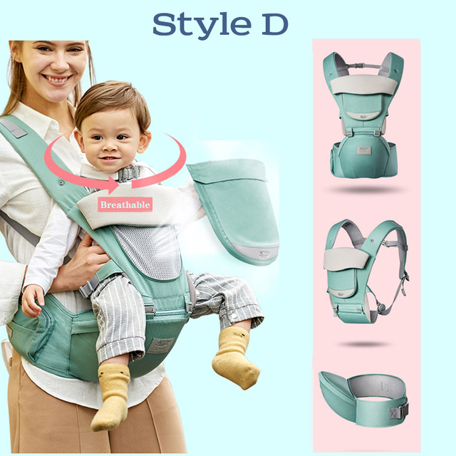 Portabebés ergonómico MissAbigale, portabebés para bebés, portabebés para la cintura, Frente, ergonómico, cabestrillo con diseño de canguro para viajes de bebés de 0 a 36M