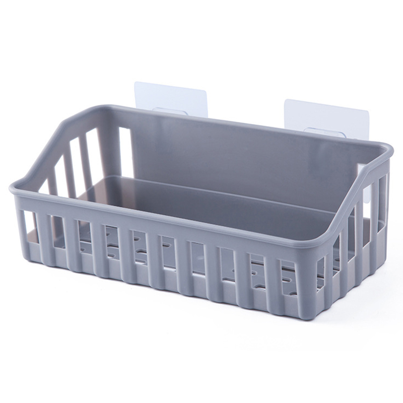 Hot Sale Bathroom Shelf Wall Mounted Storage Basket Punch Free Storage Rack Shower Organizer Kitchen Storage Holder
