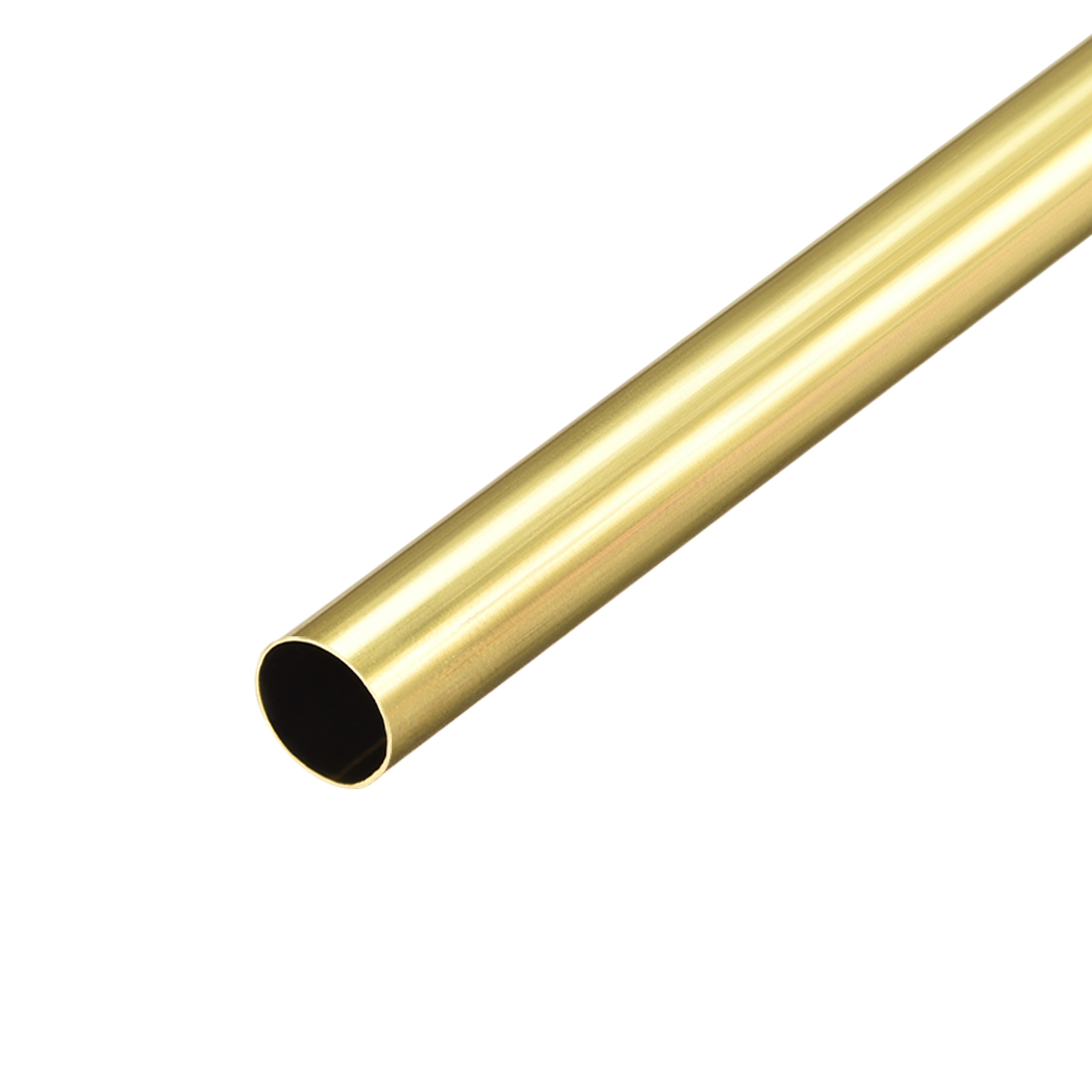 Uxcell Brass Round Tube 300mm Length 10mm OD 0.2mm Wall Thickness Seamless Straight Pipe Tubing