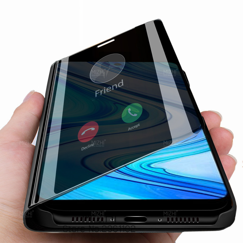 smart phone case for xiaomi redmi note 9s 9 7 8 pro max 9a 9c 8t 8a 7a poco x3 Cover View Mirror On Xiomi mi 9t mi9t pocox3 Case(China)