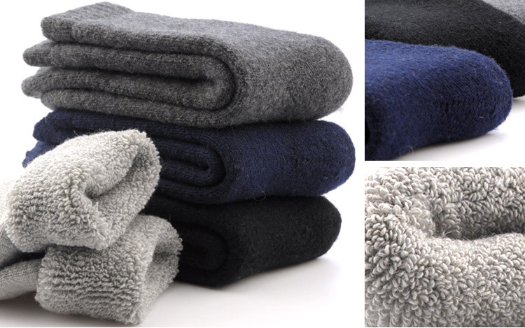 Plus Rabbit Wool Scoks Winter Women&men Tube Scoks Pure Color Super Thick Warm Long Scoks