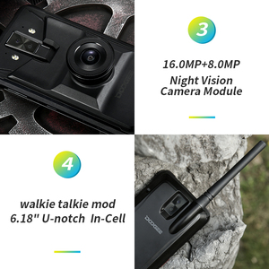 Image 3 - DOOGEE S90 Cellphone IP68 IP69K Rugged Mobile Phone 6.18 inch IPS Display 5050mAh MT6771 Octa Core 6GB 128GB Android 8.1 16.0MP