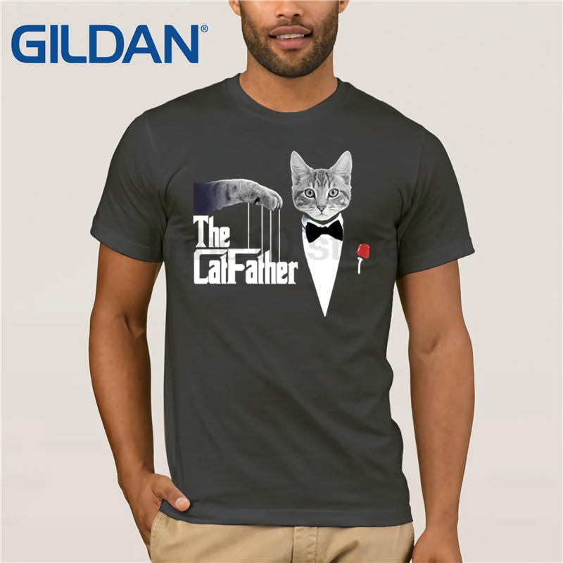The Catfather Funny <font><b>Parody</b></font> t-<font><b>shirt</b></font> men's t-<font><b>shirt</b></font> image